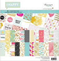 HAPPY Collection Pack 12X12 Scrapbooking Kit Webster's Pages WPK84 NEW