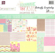 Hello Pastel COLLECTION Kit Scrapbooking 12x12 inch Paper Pad PRIMA 18 Sheet NEW
