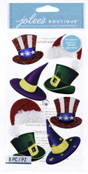 Holiday Hats EK SUCCESS Jolee's Boutique 3D Stickers NEW
