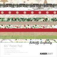 HOME FOR CHRISTMAS Collection 6.5 in Paper Pad Scrapbooking Kit Kaisercraft NEW