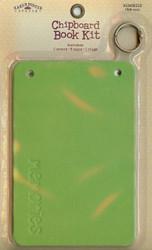 """Karen Foster Scrapbooking Chipboard Book Kit MEMORIES 11023 Green 6"""" x 4"""" in New"""