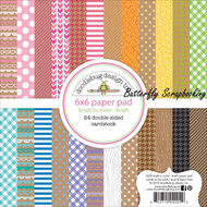 Kraft In Color Scrapbooking 6x6 inch Paper Pad Doodlebug 24 Sheets 4204 NEW