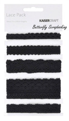 Lace Black Lace Pack Scrapbooking Paper Crafting Embellishment Kaisercraft NEW