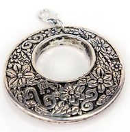 Laliberi Scarf Charm Jewelry Ornament Sliver Filigree Circle EK Success NEW