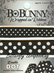 Licorice Double Dot Ribbon BOBUNNY Scrapbooking Embellishments, NEW - WRLI096
