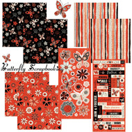 LICORICE LANE BUTTERFLY Collection 12X12 Scrapbooking Kit by SandyLion New