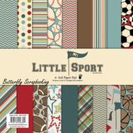 Little Sport Collection Scrapbooking 6x6 inch Paper Pad Fancy Pants 36 Sheet NEW
