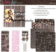 LOVE LIFE Chalkboard 12X12 Scrapbooking Kit Page Kit by Paper Studio 327106 New