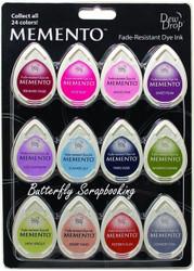 Memento Ink 12 Pack Fade Resistant Dye Ink Fine Details Tsukineko MD-012-200 NEW