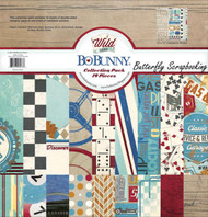 Men Wild Card Collection Pack 12x12 Scrapbooking Kit BoBunny 17016573 New
