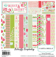 Merry & Bright Christmas 12X12 Scrapbooking Kit Carta Bella Paper Co. NEW