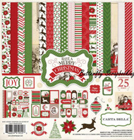 MERRY CHRISTMAS 12X12 Scrapbooking Collection Kit Carta Bella CBHMC45016 NEW