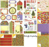 MERRY CHRISTMAS Collection 12X12 Scrapbooking Kit