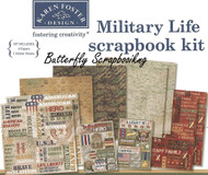 Military Life 12X12 Scrapbooking Kit Hero USA Proud to Serve Karen Foster NEW
