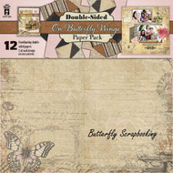 ON BUTTERFLY WINGS 12x12 Scrapbooking Paper Pack HOT OFF THE PRESS 4235 NEW