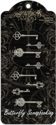 Ornate Metal Keys Scrapbooking Paper Crafting Embellishments Graphic 45 4500839