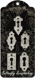 Ornate Metal Lock Scrapbooking Paper Crafting Embellishments Graphic 45 4500840
