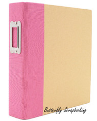 "Pink & Craft 6"" x 8"" inch Scrapbooking Binder Snap Studio by Simple Stories NEW"