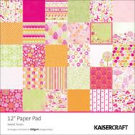 Pink Sweet Treats 12x12 Scrapbooking Paper Pad 60 Sheet Kaisercraft PP204 NEW
