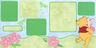 POOH PIGGYBACK 12X12 Page Layout  2 Page Layout Scrapbooking Kit NEW