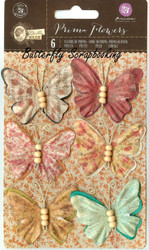 Prima Butterfly 6 Butterflies Bella Rouge Collection Scrapbooking Prima 580544
