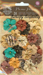 Prima Flowers 24 Flowers Timeless Collection Scrapbooking Prima 580834 NEW