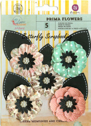 Prima Flowers 5 Flowers Bloom Collection Scrapbooking Prima Inc. 575199 NEW