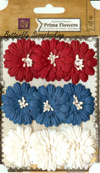 Prima Flowers 9 Flowers Liberty Daisy Collection Scrapbooking Prima Inc.NEW