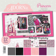 Princess Girl Collection 12X12 Scrapbooking Paper Pack Adornit Carolees New