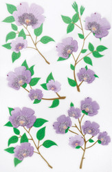 Purple Blossom Scrapbook Stickers by Martha Stewart Crafts EK SUCCESS New