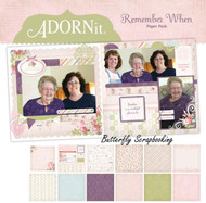 Remember When Collection 12X12 Scrapbooking Paper Pack Adornit Carolees New