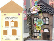 "Scrapbooking Album Doll House Chipboard 6.5"" x 11"" inch Album Prima #910556 New"