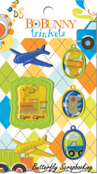 Scrapbooking Trinkets Boys Toys On The Go BoBunny Bo Bunny NEW