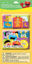 Sesame Street Character Faces 3D Stickers by EK Success New