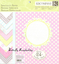 Spring Specialty Scrapbooking 12X12 Paper Pad 24 Sheets K&Company New