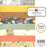 Story Teller Collection Scrapbooking 6x6 Paper Pad Crate Paper Crafts New