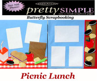 Summer Picnic Lunch PREMADE 12X12 Scrapbooking 2 PAGE LAYOUT New Just Add Photos