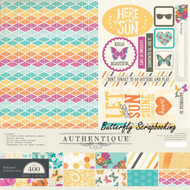 Summer RADIANT Collection 12x12 Scrapbooking Paper Crafting Kit Authentique New