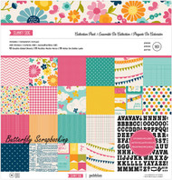 Summer Sunny Side Collection 12X12 Scrapbooking Kit American Crafts Pebbles New