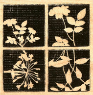 Textured Floral Squares Wood Mounted Rubber Stamp Stampabilities New