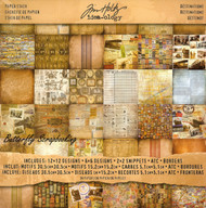 TIM HOLTZ IDEA-OLOGY Travel Destinations 12X12 Scrapbooking Paper Pad 36 Sh NEW