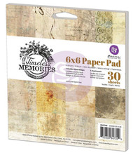 TIMELESS MEMORIES Collection Scrapbooking 6x6 inch Paper Pad PRIMA 847340 NEW
