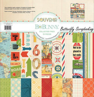 Travel SOUVENIR Collection 12x12 Scrapbooking Kit Bo Bunny BoBunny 16916549 New