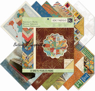 Travel Specialty 12X12 Scrapbooking Paper Pad Tim Coffey K&Company 22 Sheets NEW