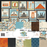 Travel WANDERLUST Collection 12X12 Scrapbooking Kit Kaisercraft Paper Crafting