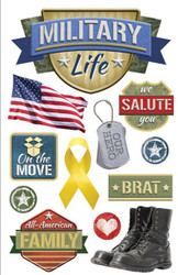 United States Military Life 3D Stickers Scrapbooking Paper House STDM-0213 NEW
