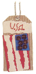 USA FLAG Fresh Tags Handmade tag by EK Success NEW