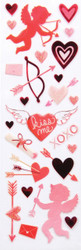 Valentine Cupid Kiss Me Hearts Scrapbook Stickers Martha Stewart Crafts NEW