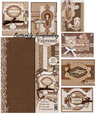 Vintage Espresso Artful Card Making Kit Paper Crafting Hot Off The Press 7269NEW