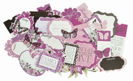 Violet Crush Collection Scrapbooking 50 piece Die Cuts Kaisercraft NEW